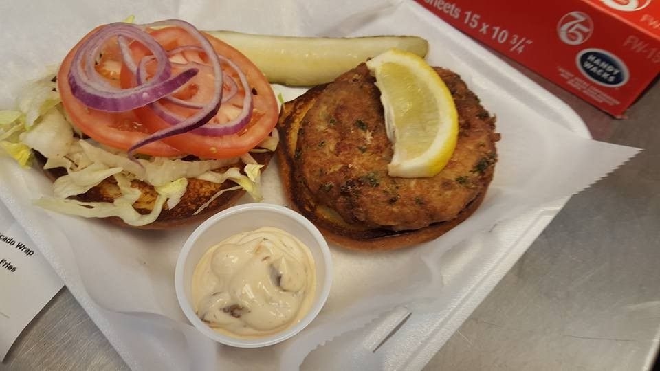 Crab Cake Sandwich on the Outer Banks