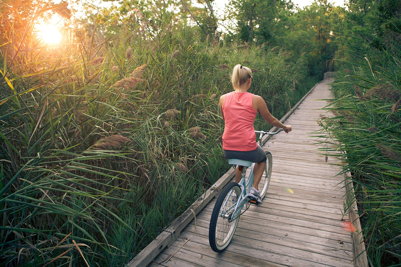 Miles of biking paths to explore.
